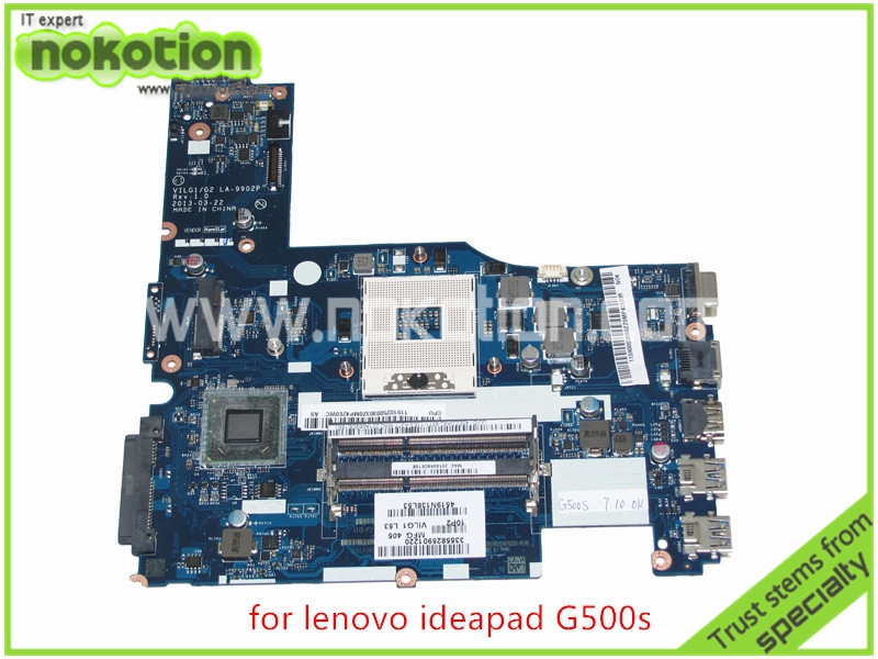 NOKOTION 11S90003080 ILG1 G2 lenovo ideapad G500S LA-9902P Rev 1.0 Laptop anakart DDR3 intel HD4000 grafik Anakart