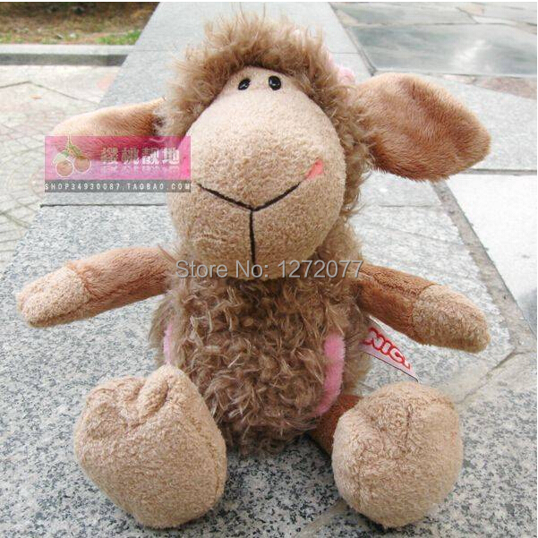 NICI 25cm Flower Brown Sheep Stuffed Plush Toy, Baby Kids Doll Gift Free Shipping